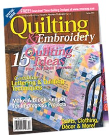 Copyright � 2005 Creative Machine Embroidery Quilting & Embroidery